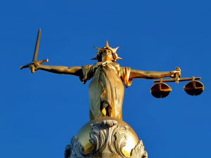 Lady Justice on the Old Bailey